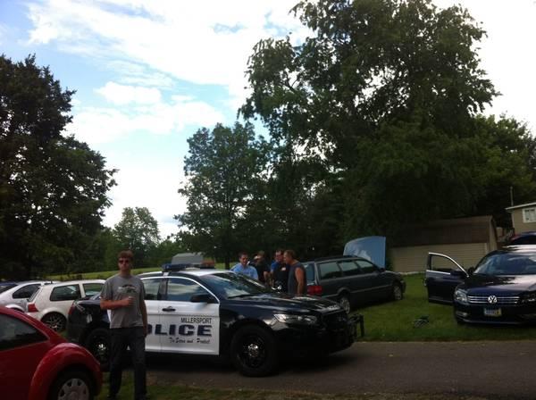 Cops show up