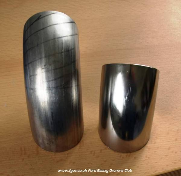 Exhaust tips 85mm stainless steel