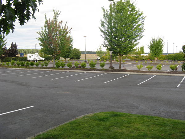 The day after and the parking lot has been emptied.