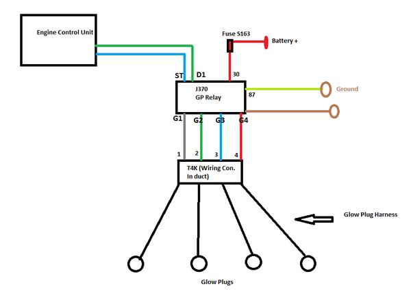 vw tdi glow plug wiring diagram  description wiring