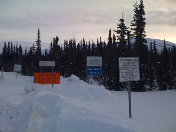 Dalton Highway at Coldfoot, Alaska