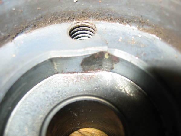 Damaged Crankshaft Sprocket