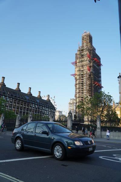 Jetta in front of Big Ben, London
