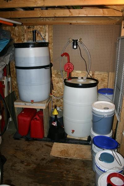 WVO Filtration Setup