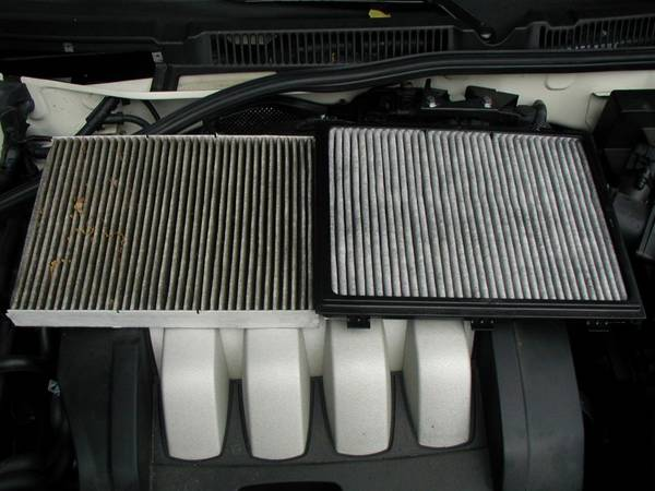 Cabin Filters OEM Dirty & Replacement 2004 Jetta