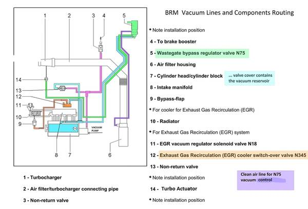 BRM Vacuum lines and components in color