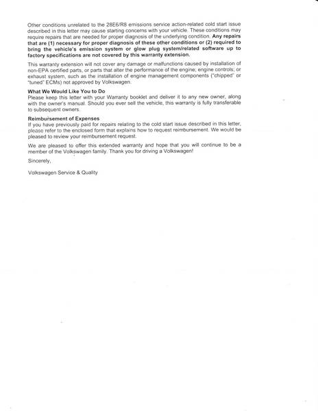 28E6/R8 Recall Update 11-2010 Page 2