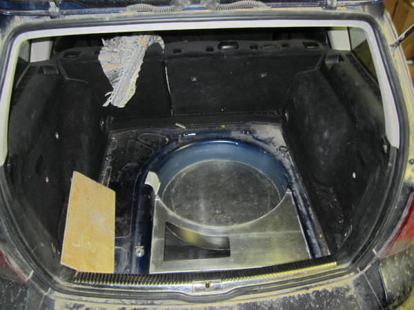 WVO wheel well custom tank for Jetta TDI wagon