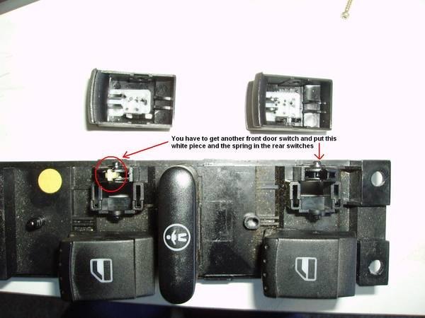 Adding rear detent for Mk4 auto rear windows