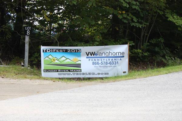 "TDIFest 2013 Banner at the entrance to ""parking lot 8"""