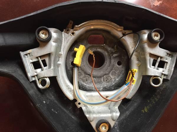 Three spoke wheel 1 inside & wires